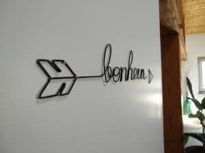 Fixer une phrase alu au mur