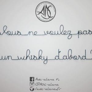 """Phrase murale """"vous ne voulez pas un whisky…"""""""