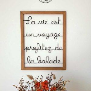 """La vie est un voyage, profitez de la balade"""